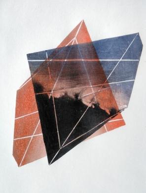Kate Desforges - Landforms II Woodblock print